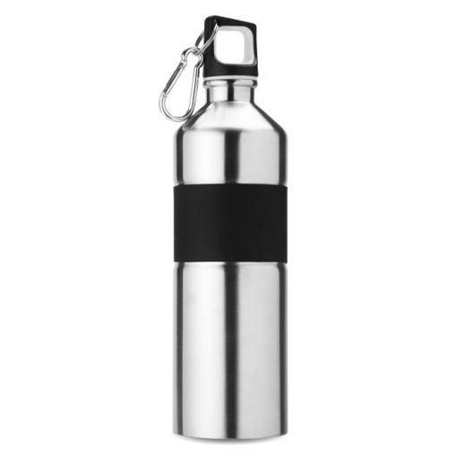Сребро Мат Метална бутилка с карабинер TENERE 750 ml