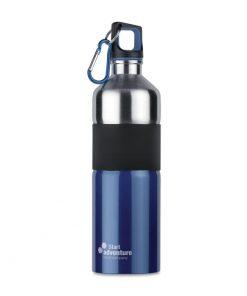 Синя Метална бутилка с карабинер TENERE 750 ml