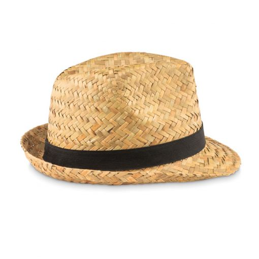 Черна Лятна сламена шапка MONTEVIDEO