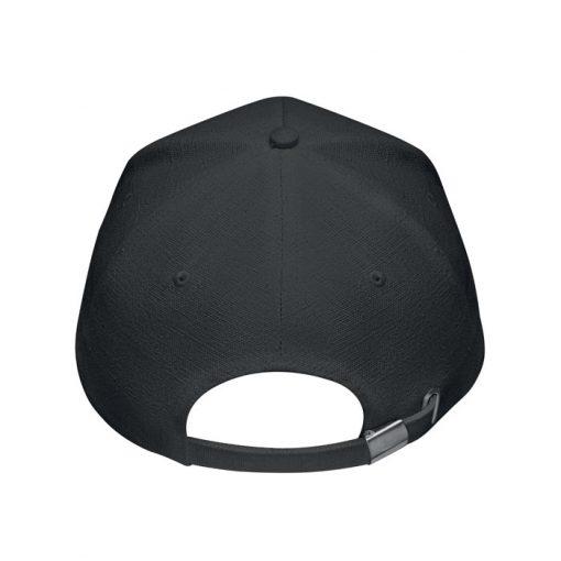 Черна Конопена шапка с козирка NAIMA