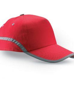 Червена Памучна шапка с козирка VISINATU