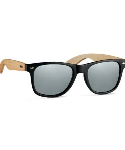 Сребро Блясък Слънчеви очила с бамбукови рамки CALIFORNIA TOUCH
