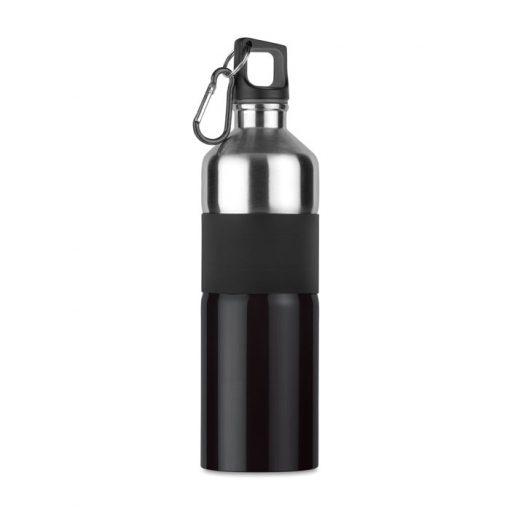 Черна Метална бутилка с карабинер TENERE 750 ml