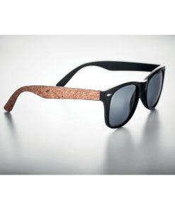 Черни Слънчеви очила с коркови дръжки PALOMA