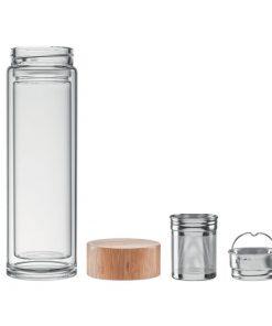 Прозрачна Стъклена термочаша BATUMI GLASSS 420 ml