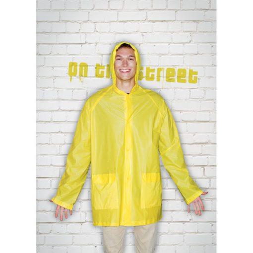 Жълт Дъждобран с качулка BLADO