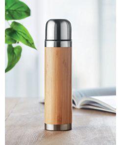 Дървесен Термос от неръждаема стомана CHAN BAMBOO 400 ml