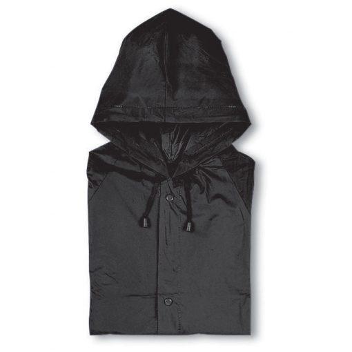 Черен Дъждобран с качулка BLADO