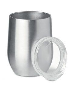 Сребро Мат Двойностенна чаша от неръждаема стомана CHIN CHIN