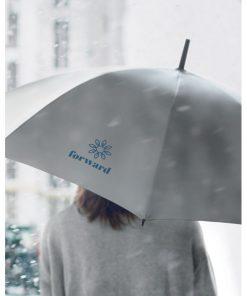 Сребро Мат Светлоотразителен чадър за дъжд VISIBRELLA