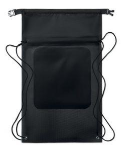 Черна Водоустойчива торба с презрамки DEBO 10 L