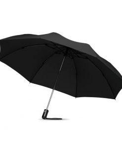 Черен Малък сгъваем чадър за дъжд DUNDEE FOLDABLE