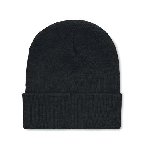 Черна Плетена зимна шапка POLO RPET