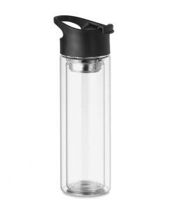 Прозрачна Стъклена термочаша BIELO 380 ml