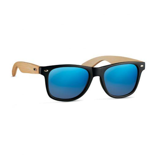 Сини Слънчеви очила с бамбукови рамки CALIFORNIA TOUCH