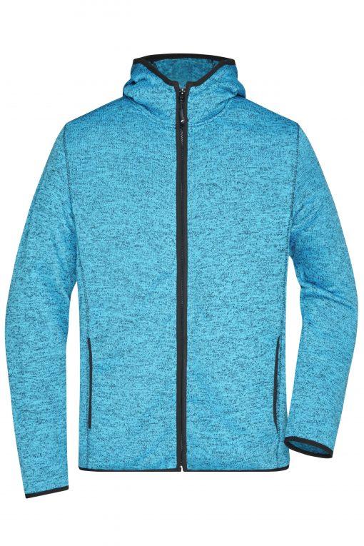 Мъжки суичър - цвят Синьо-Меланж/Черен
