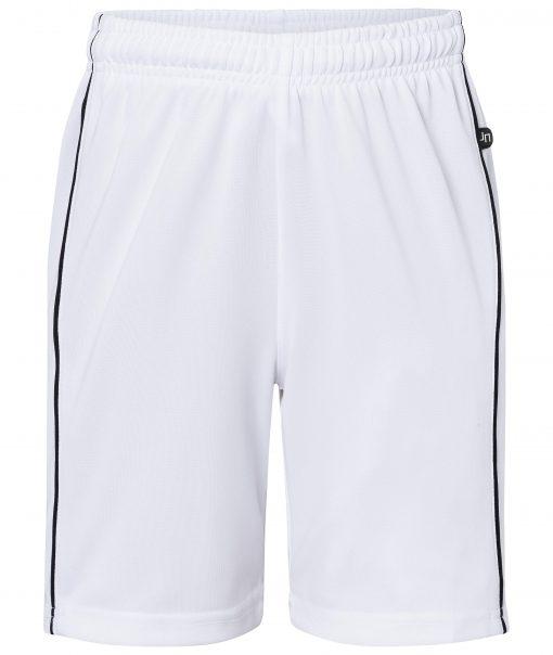 Детски спортни шорти - цвят Бял/Черен