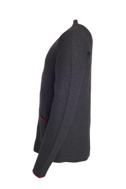 Мъжка жилетка - цвят Антрацит-Меланж/Червено/Червено