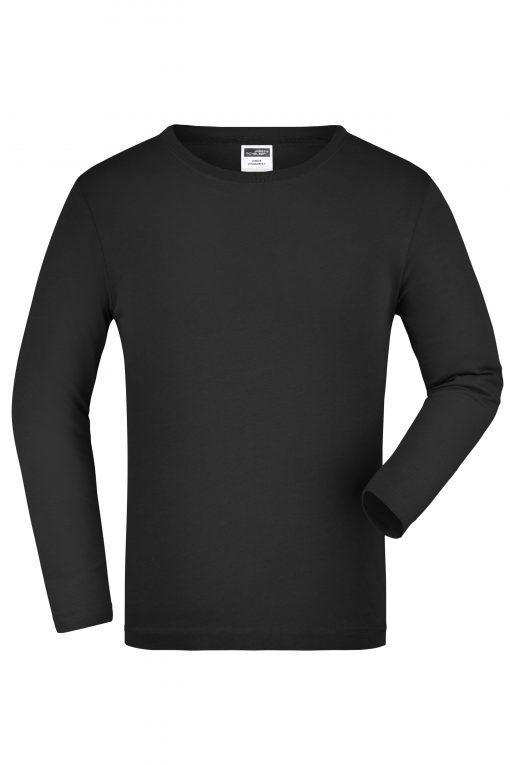 Детска блуза с дълъг ръкав - цвят Черен