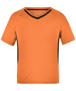 Детска тениска за футбол - цвят Оранжево/Черно