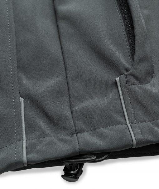 Детско софтшел яке - цвят Черен