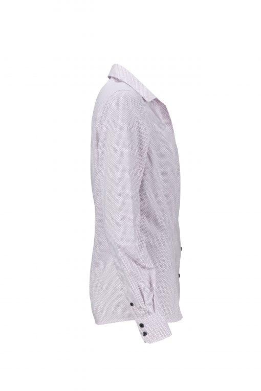 Дамска риза с дълъг ръкав - цвят Бяло/Червено