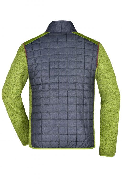 Мъжко хибридно яке - цвят Киви Меланж/Антрацит Меланж