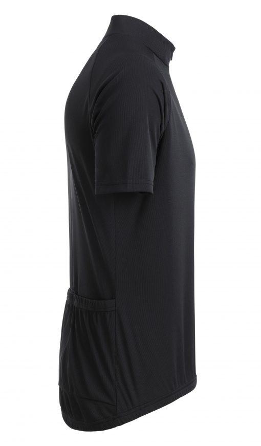Мъжка тениска за колоездене - цвят Черен