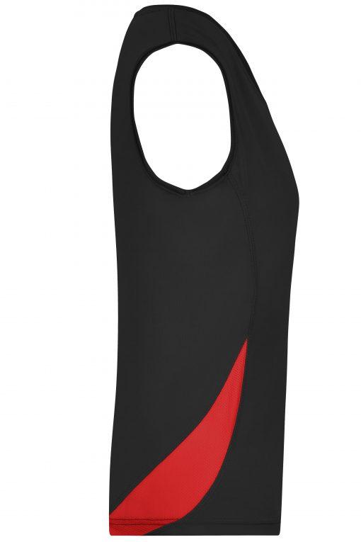 Дамски спортен топ - цвят Черно/Червено