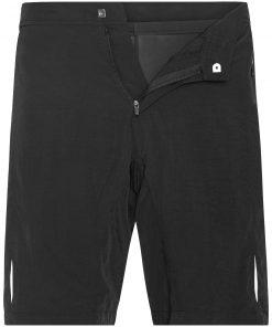 Мъжки шорти за колоездене 2 в 1 - цвят Черен