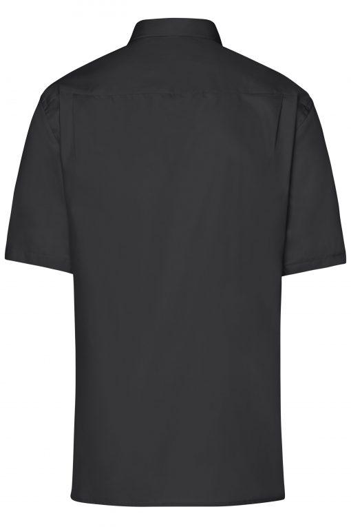 Мъжка риза с къс ръкав - цвят Черен