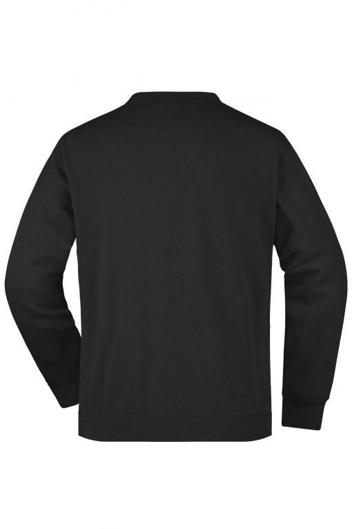 Мъжка тениска с дълъг ръкав - цвят Черен