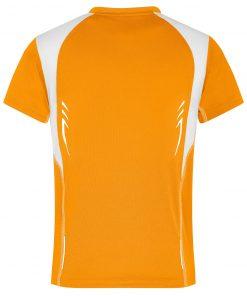 Детска спортна тениска - цвят Оранжево/Бяло