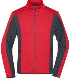 Мъжки полар за туризъм - цвят Червен/Индиго