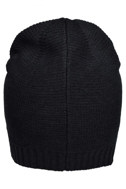 Памучна шапка тип Beanie - цвят Черен
