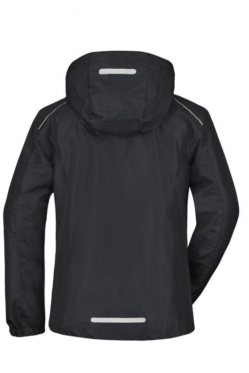 Дамско яке ветровка - цвят Черно/Сребро
