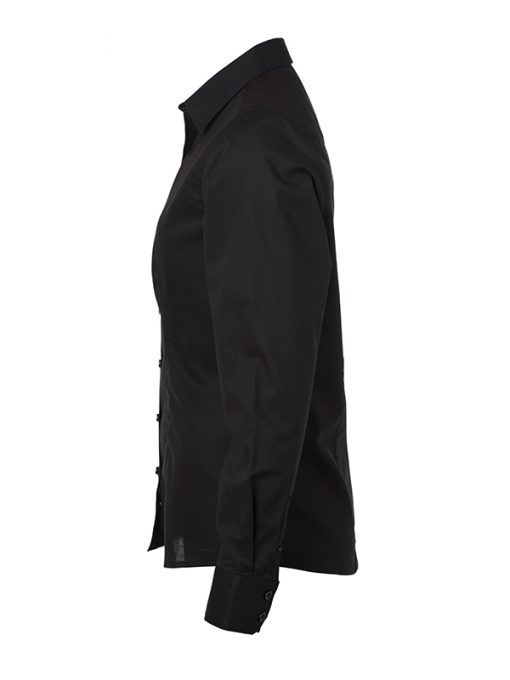 Дамска риза с дълъг ръкав Oxford - цвят Черен