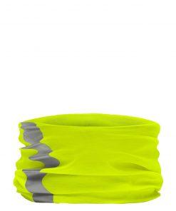Кърпа за лице, шия, глава със светлоотразителна лента - цвят Неоново-Жълто