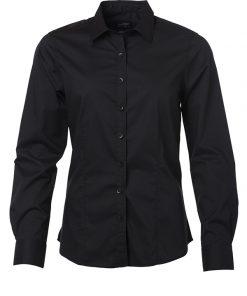 Дамска риза с дълъг ръкав - цвят Черен