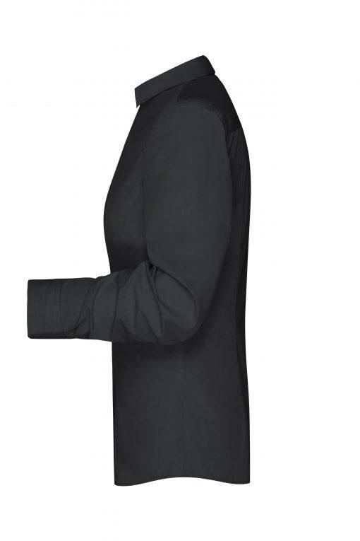 Дамска риза с дълъг ръкав - цвят Черно/Черно-Бяло