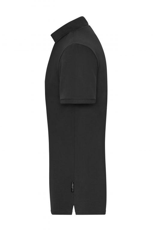 Мъжка тениска с яка Polo Stretch - цвят Черен