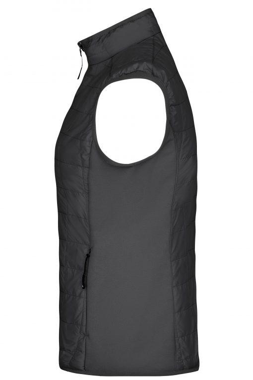 Дамски хибриден елек - цвят Черно/Сребро