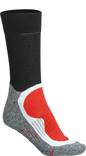 Мъжки спортни чорапи - цвят Черно/Червено