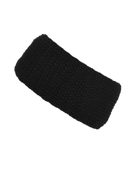 Плетена лента за глава - цвят Черен