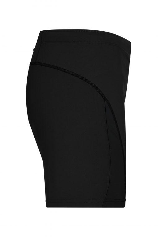 Дамски къси панталони за бягане - цвят Черно/Черно