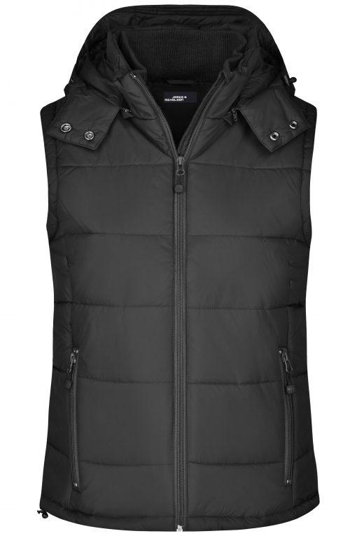 Дамски елек с подплата - цвят Черен