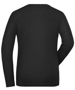 Дамска блуза с дълъг ръкав Long Stretch - цвят Черен