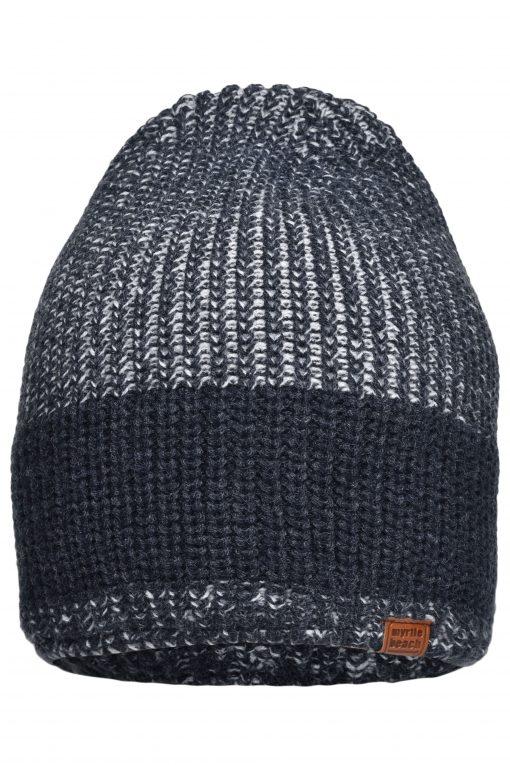 Плетена зимна шапка Urban - цвят Флот / Сребро