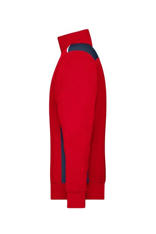 Мъжка блуза с цип - цвят Червено/Флота