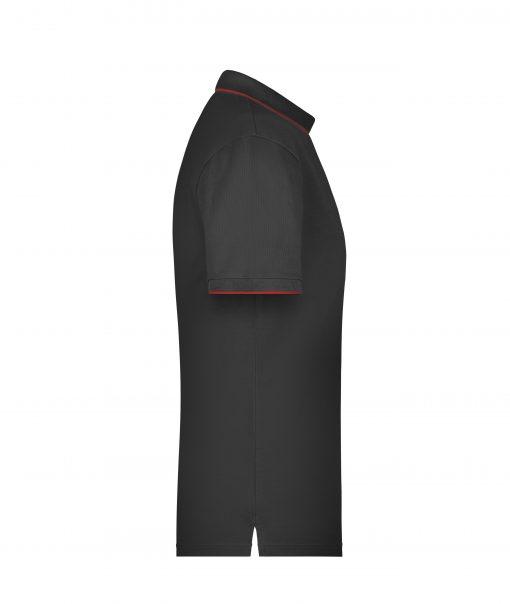 Мъжка тениска с яка Multi Stripe - цвят Черно/Червено